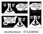 set of halloween banner. scary...   Shutterstock .eps vector #471238442