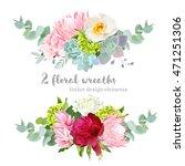 floral mix wreath vector design ... | Shutterstock .eps vector #471251306