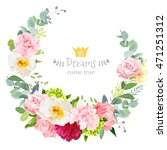 cute wedding floral vector... | Shutterstock .eps vector #471251312
