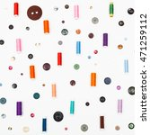 many spools of sewing thread... | Shutterstock . vector #471259112