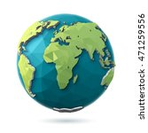 3d rendering. polygonal style... | Shutterstock . vector #471259556