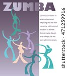 a template for a zumba class or ...   Shutterstock .eps vector #471259916