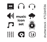 music icons set with white... | Shutterstock .eps vector #471264536