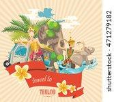 travel thailand landmarks. thai ... | Shutterstock .eps vector #471279182