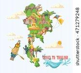 travel thailand landmarks. thai ...   Shutterstock .eps vector #471279248