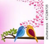 birds speak love in whispers... | Shutterstock .eps vector #471284735