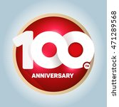 100th anniversary with an... | Shutterstock .eps vector #471289568