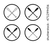 crossed canoe paddles symbol...   Shutterstock .eps vector #471299456
