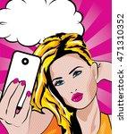 pretty beautiful young women... | Shutterstock .eps vector #471310352