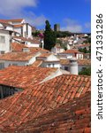 Portugal  Obidos. Rooftops Of...