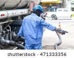 worker transferring gasoline... | Shutterstock . vector #471333356
