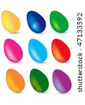 easter eggs vector collection | Shutterstock .eps vector #47133592
