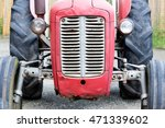 Old Tractor Face  Red  Rusty A...
