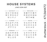 set line icons of house systems | Shutterstock .eps vector #471364472