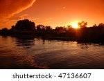 sunrise in the danube delta | Shutterstock . vector #47136607