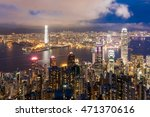 cityscape of hong kong island... | Shutterstock . vector #471370616