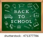 welcome back to school... | Shutterstock .eps vector #471377786