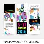 banners set  trendy geometric... | Shutterstock .eps vector #471384452