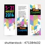 banners set  trendy geometric... | Shutterstock .eps vector #471384632
