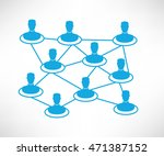 connecting people | Shutterstock .eps vector #471387152
