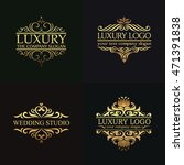 luxury logo set | Shutterstock .eps vector #471391838