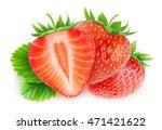 isolated strawberries. three... | Shutterstock . vector #471421622