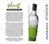 hand draw of alcohol bottle.... | Shutterstock .eps vector #471425378