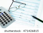 form filling  taxes in italy ... | Shutterstock . vector #471426815