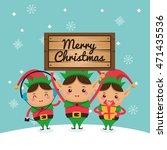 merry christmas concept...   Shutterstock .eps vector #471435536