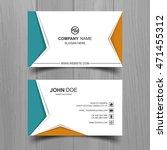 modern business card | Shutterstock .eps vector #471455312