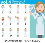 diverse set of young female... | Shutterstock .eps vector #471456692