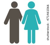 married couple icon. glyph... | Shutterstock . vector #471461066