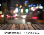 wooden terrace and city light... | Shutterstock . vector #471466112