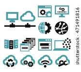 network  server icon set | Shutterstock .eps vector #471491816