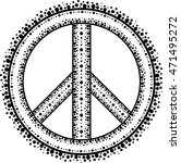 sign pacifist  peace symbol ... | Shutterstock .eps vector #471495272