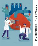 medical flat style illustration | Shutterstock .eps vector #471496286