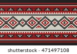 traditional folk sadu arabian... | Shutterstock .eps vector #471497108