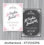 wedding invitation vintage card ... | Shutterstock .eps vector #471510296