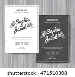 wedding invitation vintage card ... | Shutterstock .eps vector #471510308
