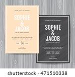 wedding invitation vintage card ... | Shutterstock .eps vector #471510338