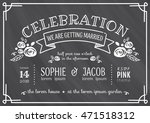 wedding invitation vintage card ... | Shutterstock .eps vector #471518312