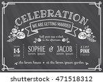 wedding invitation vintage card ... | Shutterstock .eps vector #471518312