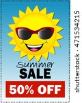 sun wearing sunglass summer... | Shutterstock .eps vector #471534215