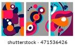 a set of artistic creative... | Shutterstock .eps vector #471536426