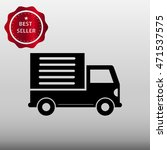 delivery truck vector icon...
