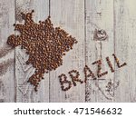 map of brazil country made out... | Shutterstock . vector #471546632