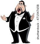 male opera singer | Shutterstock .eps vector #471547658
