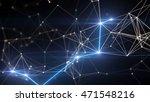 blue plexus and lightning... | Shutterstock . vector #471548216