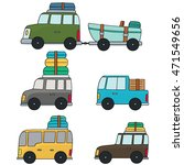 vector set of cars | Shutterstock .eps vector #471549656