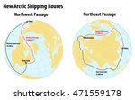 infographic on arctic shipping  ... | Shutterstock .eps vector #471559178